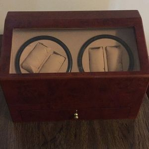 Watch winder display case